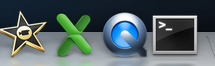 QuickTime Player icon in system tray