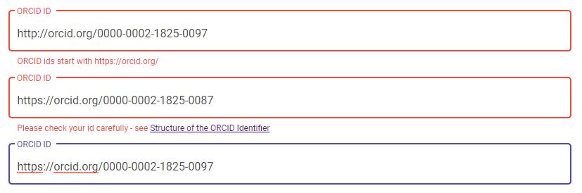 Angular Reactive Form Custom Validator for ORCID (plus
